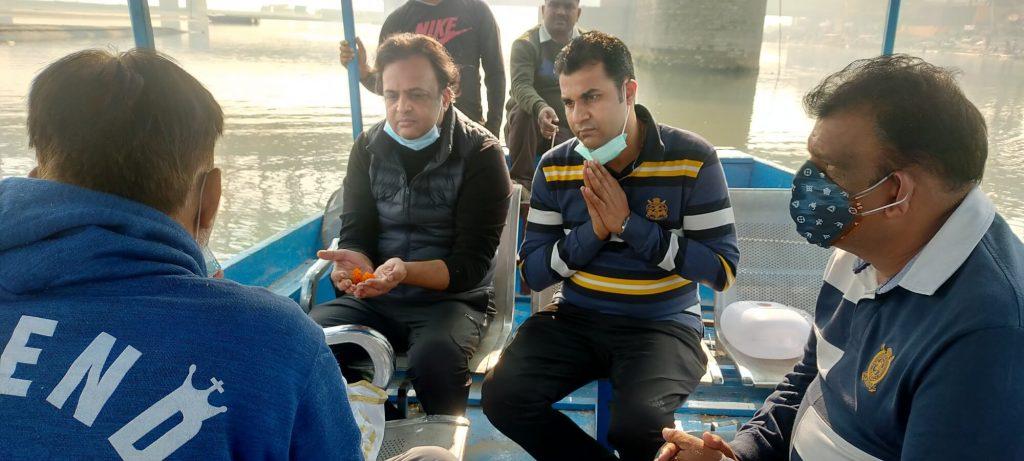 Asthi visarjan near New Delhi